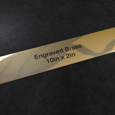 Engraved Brass 10 inch x 2 inch