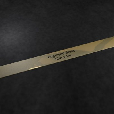 Engraved Brass Plaque 12 inch x 1 inch