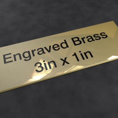 Engraved Brass 3 inch x 1 inch