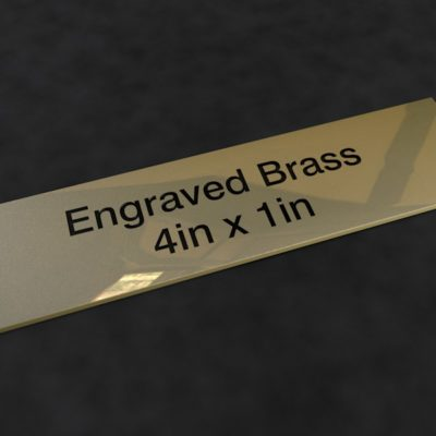 Engraved Brass Plaque 4 inch x 1 inch