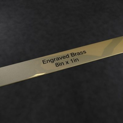 Engraved Brass Plaque 8 inch x 1 inch