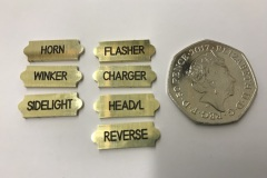 Small Brass Labels