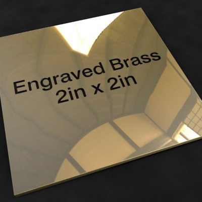 Engraved Brass 2 inch x 2 inch