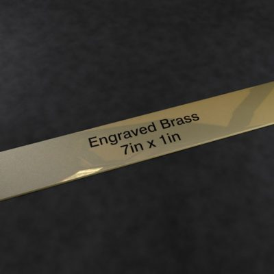 Engraved Brass Plaque 7 inch x 1 inch