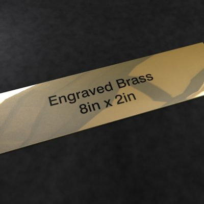 Engraved Brass 8 inch x 2 inch