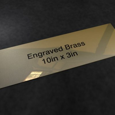 Brass 10in x 3in