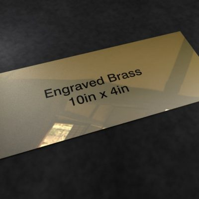 Brass 10in x 4in