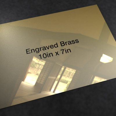 Brass 10in x 7in