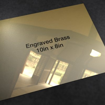 Brass 10in x 8in
